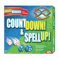 Countdown™ & Spellup™- Two sided game board to test your math and spelling skills!