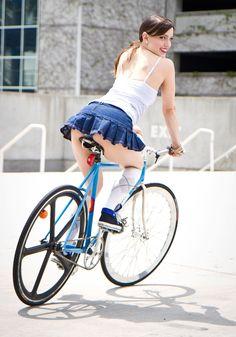 Sporty girls still like skirts