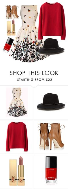 """Untitled #123"" by zagl on Polyvore featuring Uniqlo, Jimmy Choo and Yves Saint Laurent"