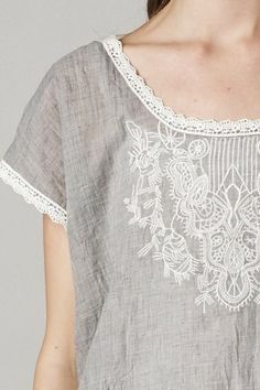 Savannah Embroidered Lace Blouse | Roe Boulevard