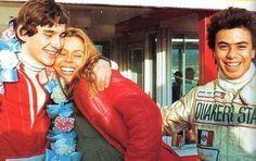 Senna su esposa Lilian y Alfonso Toledano