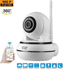 OCDAY Wireless IP Camera 960p HD WiFi Home Security Surveillance System Night Vision for Baby / Elder / Pet / Nanny Monitor, Two-Way Audio, Pan 355°, Tilt 100°, Zoom, iOS, Android App