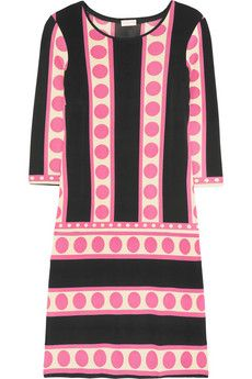 Collette by Collette Dinnigan Printed stretch-jersey dress in black & pink #fashion @NET-A-PORTER Group LTD IT Careers