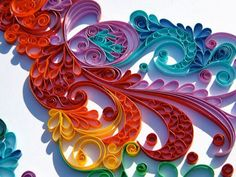 Colorful quilling