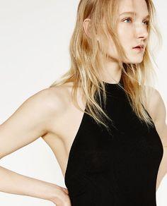 Image 5 of HALTER NECK JUMPSUIT from Zara