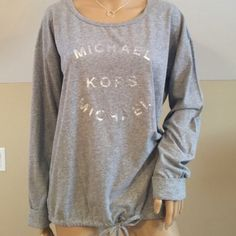 Michael Kors Top (size med)NWT Adorable top! Very soft...Michael by Michael Kors. Bought at Macy's in heather gray MICHAEL Michael Kors Tops Tees - Long Sleeve