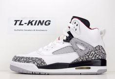 Nike Air Jordan Spizike BG GS White Elephant Print Cement 317321-122  125 D  JE 2b0db1c8473