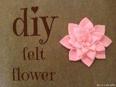 20 DIY Felt Flower Tutorials