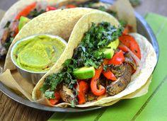 A Dash of Compassion » Roasted portobello & red pepper tacos