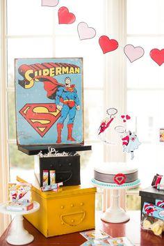 Superhero Valentine's Day Party Full of Really Cute Ideas via Kara's Party Ideas | KarasPartyIdeas.com