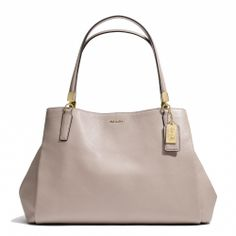 Coach :: MADISON CAFE CARRYALL IN LEATHER. I want this so much it hurts.