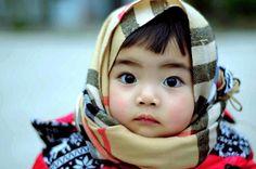 Very big dark eyes on this adorable girl. #cutebaby