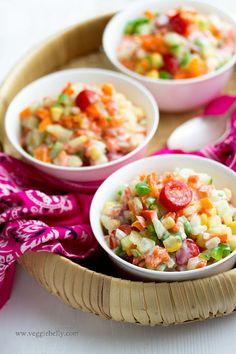 My Grandmother's Multicolored Mixed Vegetable Raita Recipe