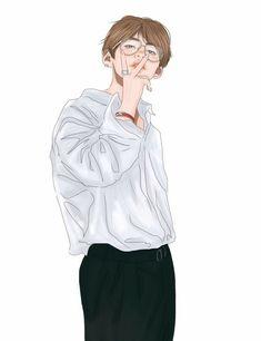 both fluff and smut fanarts. Not my fanarts! Bts Taehyung, Jimin, Taehyung Fanart, Kpop Fanart, Bts Boyfriend, Bts Kim, V Chibi, Bts Cute, V Bts Wallpaper
