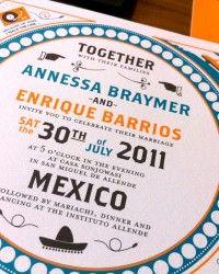 Enrique + Annessa's Creative Mexico Destination Wedding Invitations