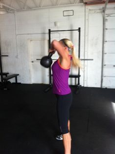 CrossFit WOD Home Workout: Kettle Bell Tabata... Loved doing it today... I have sore shoulders!