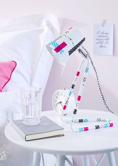 Good morning sunshine. Want to wake up with a smile? Simply use tesa® Deco Tape and decorate your bedside lamp. Super easy and it looks great!