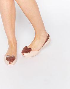 Vivienne Westwood For Melissa Blush Queen Flat Shoes