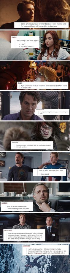 Avengers + Tumblr text posts <--- That last one! LOL!