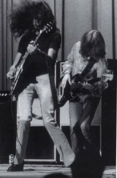 Jimmy Page and John Paul Jones in action; 1969