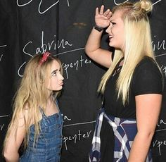 I feel Sabrina's pain, we are the same height  i hate being short but at least we are short together