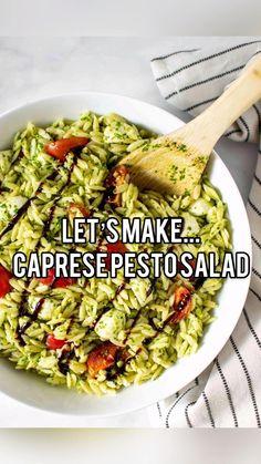 Veggie Recipes, Pasta Recipes, New Recipes, Dinner Recipes, Cooking Recipes, Summer Recipes, Summer Vegetarian Recipes, Salad Recipes Healthy Lunch, Recipes