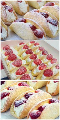 Strawberry sponge cakes - this is my .- Бисквитные пирожные с клубникой — это моя к… Sponge cake with strawberries – this is my crown cake for 10 years! No Bake Chocolate Desserts, Chocolate Hazelnut Cake, No Bake Desserts, Easy Cookie Recipes, Cake Recipes, Dessert Recipes, Mini Patisserie, Strawberry Sponge Cake, Biscuit Cake
