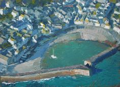 Neil Pinkett, Above Mousehole Harbour, oil on board 28 x 39cm £995