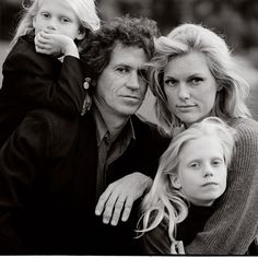 Keith Richards and family, Photo by Annie Leibovitz