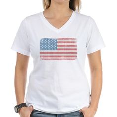 Vintage American Flag Shirt on CafePress.com