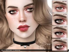 Bree Eyeliner N75 by Praline Sims for The Sims 4