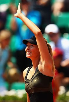 Masha after a dominating 1st round win at the French Open!