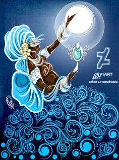Epeja by OradiaNCPorciuncula on DeviantArt Orisha, Black Women Art, Black Art, African Beauty, African Art, Shiva, African Mythology, Female Art, Amazing Art