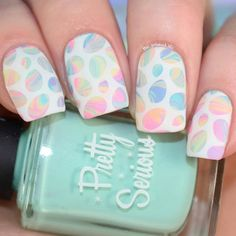 Best Easter Nail Art for 2019 includes bright bunny nails, cute egg nails, polka dot nails are some of the most talked about Nail Art Designs for Easter. Easter Nail Designs, Dot Nail Designs, Easter Nail Art, Art Designs, Polish Easter, Cute Nail Art, Beautiful Nail Art, Cute Nails, Bunny Nails