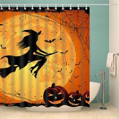 Halloween Witch Eco Friendly Fabric Shower Curtain