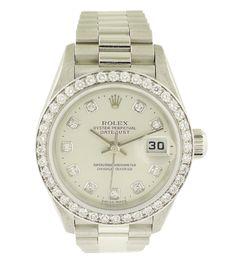 Rolex Lady's Datejust 79136 Platinum Presidential Diamond Watch