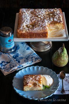 Olivas en la cocina: Bizcocho de peras y almendras