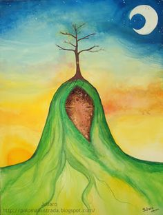 Tara Verde, Disney Characters, Fictional Characters, Draw, Disney Princess, Painting, Tree Woman, Mother Earth, Sacred Feminine