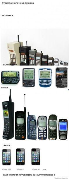 Evolution of phone designs
