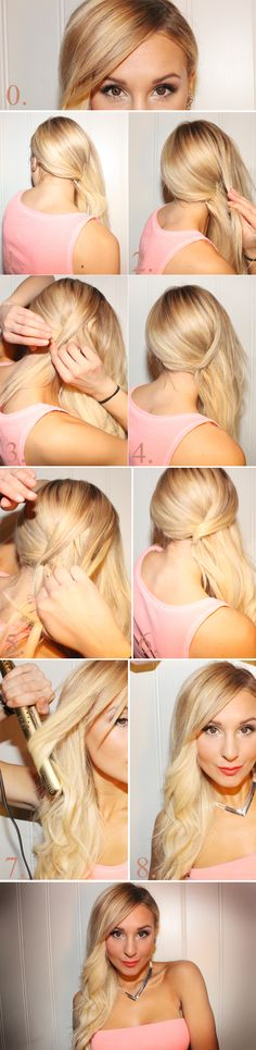 Glamorous side curls