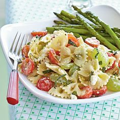 Bow Ties with Tomatoes, Feta, and Balsamic Dressing - looks like a new yummy pasta salad to try!
