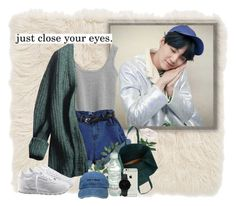 Suga ; just close your eyes. by elxah on Polyvore featuring polyvore, fashion, style, Prada, Reebok, Maison Margiela, CLUSE, Nordstrom, New Century and clothing