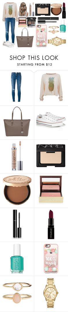 """""""P"""" by aliciadelgado on Polyvore featuring Belleza, Frame Denim, Wildfox, MICHAEL Michael Kors, Converse, NARS Cosmetics, Too Faced Cosmetics, Chanel, Tom Ford y Smashbox"""