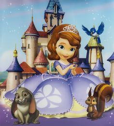 Shop for Sofia the First and all your favourite toys, games and gifts featuring the Princess, Clover, Whatnaught, Mia and Robin from the Disney Junior TV show at Funstra. Princess Sofia Birthday, Princess Sofia The First, Sofia The First Birthday Party, Sofia Party, First Birthday Photos, Sofia The First Characters, Minnie Mouse Drawing, Princesa Sophia, Invitation Layout