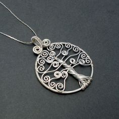 New to AnnaWireJewelry on Etsy: Silver tree of life pendant wire wrapped tree of life pendant celtic tree of life necklace gift for her (38.00 USD)