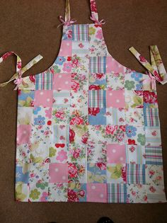 Patchwork apron made with cath kidston fabrics by patchwork and lace, via Flickr