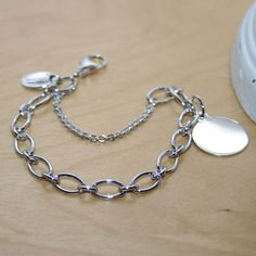 9c6875c52 BeadifulBABY My First Charm bracelets for girls. Engravable round charm  included. Free engraving.
