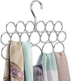 Amazon.com : scarf organizer Mens Closet Organization, Scarf Organization, Door Shoe Organizer, Bra Storage, Scarf Storage, Clothing Storage, Scarf Hanger, Belt Hanger, Closet Hangers