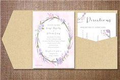 Lavendar floral spring invitation
