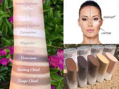 NEW! Contour Kit- Use on Eyes, Cheeks and Lips! All Natural and Vegan Friendly. by AddictiveCosmetics on Etsy